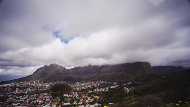 timelapse: table mountain - cape town stock videos & royalty-free footage