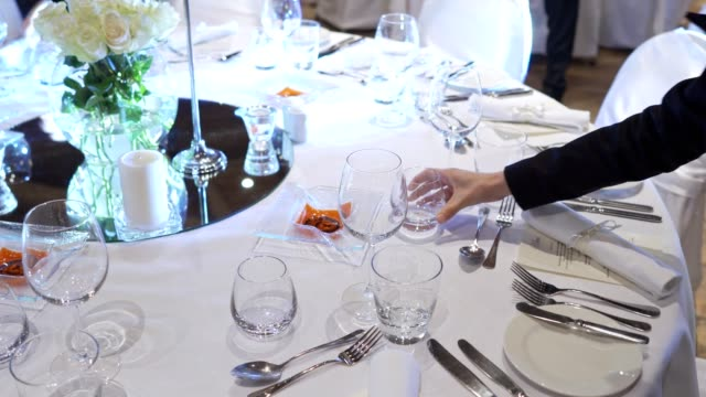 table party decoration - banquet stock videos & royalty-free footage