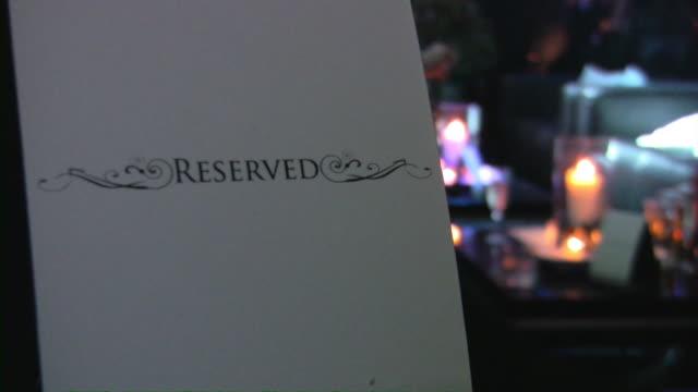 Table Reserved. Bar, pub, restaurant, nightclub scene.