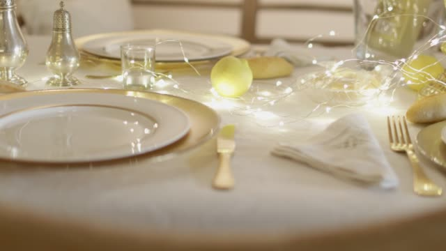 table set for christmas. - place setting stock videos & royalty-free footage