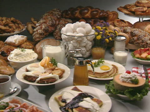 PAN MS Table set with assorted of breakfast food