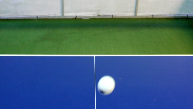 table tennis ball falls off the table - table tennis bat stock videos & royalty-free footage