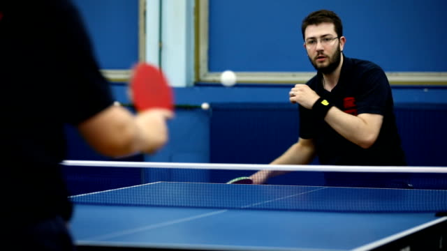 table tennis indoors - table tennis stock videos & royalty-free footage