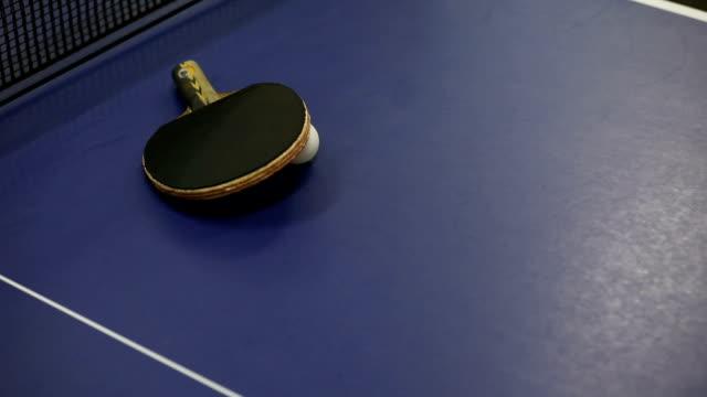 table tennis indoors - table tennis bat stock videos & royalty-free footage