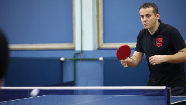 table tennis lover - table tennis stock videos and b-roll footage