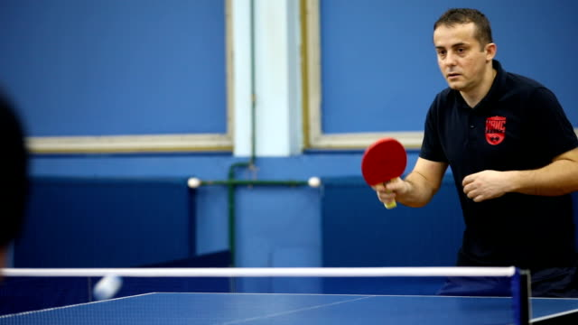 table tennis players - table tennis stock videos & royalty-free footage