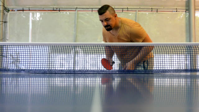 table tennis service - table tennis bat stock videos & royalty-free footage