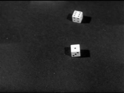 table w/ dice rolling, die landing on six & one, seven roll. - dice stock videos & royalty-free footage
