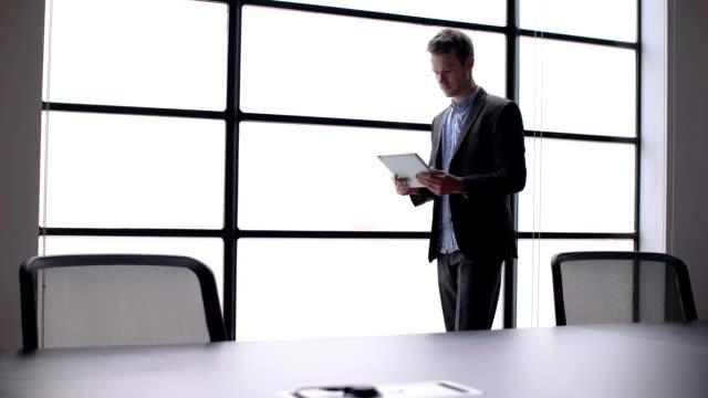 Tablet boardroom window