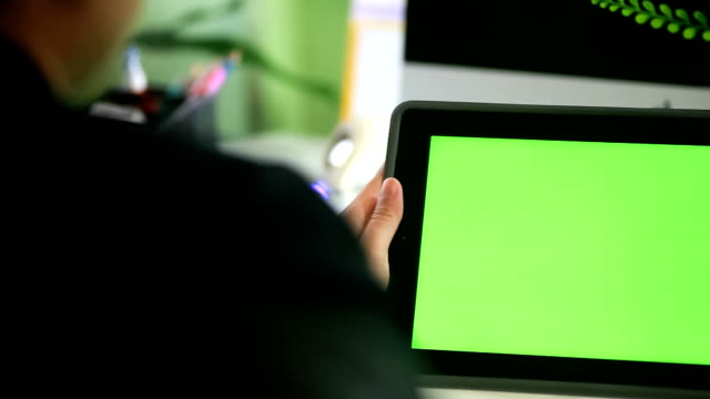 Tablet PC green screen