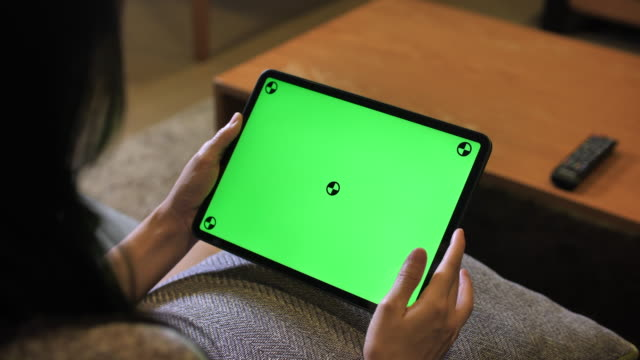 tablet pc with green screen - 4k stock videos & royalty-free footage