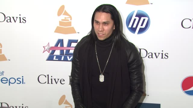 taboo of the black eyed peas at the pregrammy gala salute to industry icons with clive davis honoring david geffen at beverly hills ca - the black eyed peas band stock videos and b-roll footage