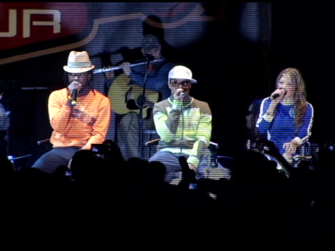 taboo william apldeap and fergie of black eyed peas at the black eyed peas live performance and press conference announcing the 6th annual honda... - the black eyed peas band stock videos and b-roll footage