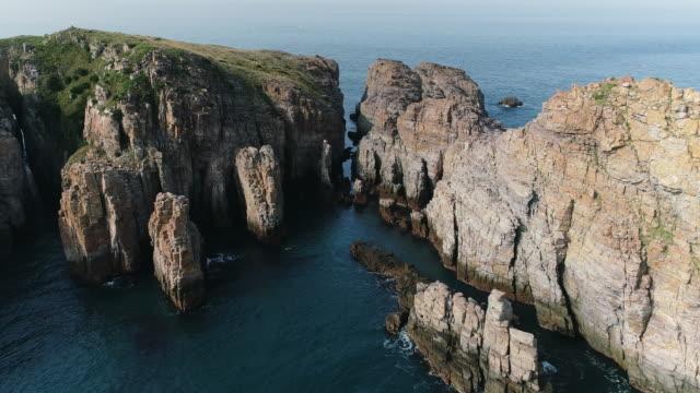 tabseom island, the uninhabited island near hongdo island / sinan-gun, jeollanam-do, south korea - bergsvägg bildbanksvideor och videomaterial från bakom kulisserna