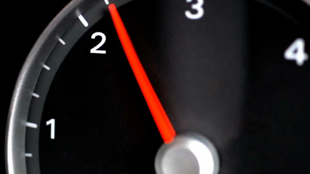 tachometer indicating a car revving - throttle stock videos & royalty-free footage