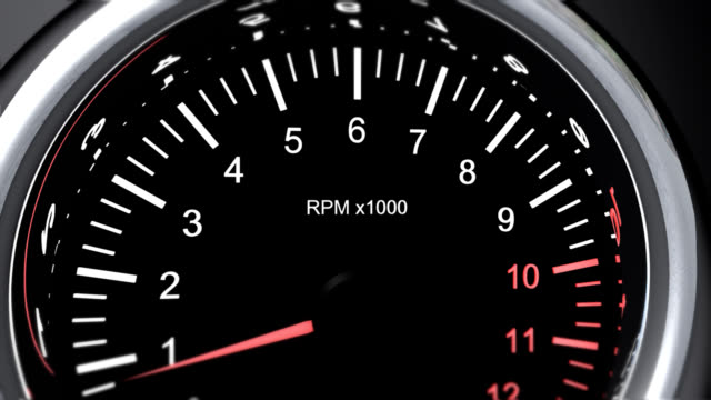 tachometer of a powerful race cars that run the accelerator - pursuit sports competition format stock videos and b-roll footage