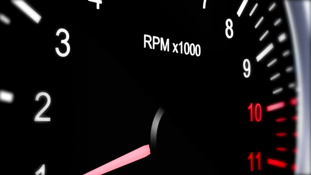 tachometer of a sports car that accelerates to full speed - stunt person stock videos & royalty-free footage