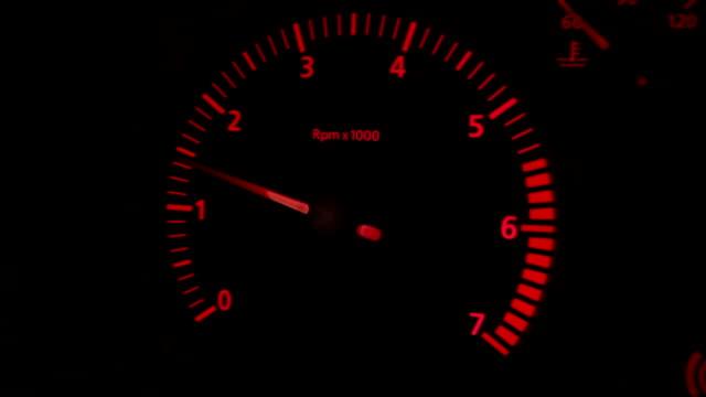 vídeos de stock e filmes b-roll de tachometer - motor