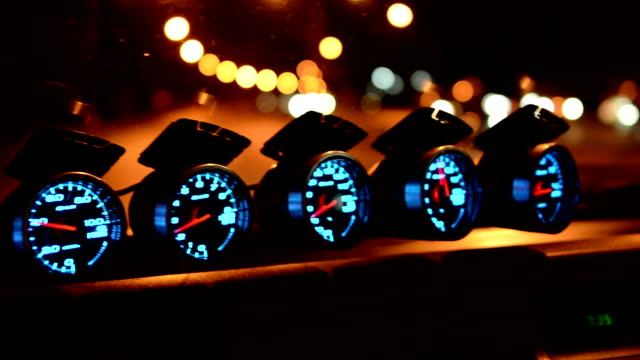 tachometer - speedometer stock videos & royalty-free footage