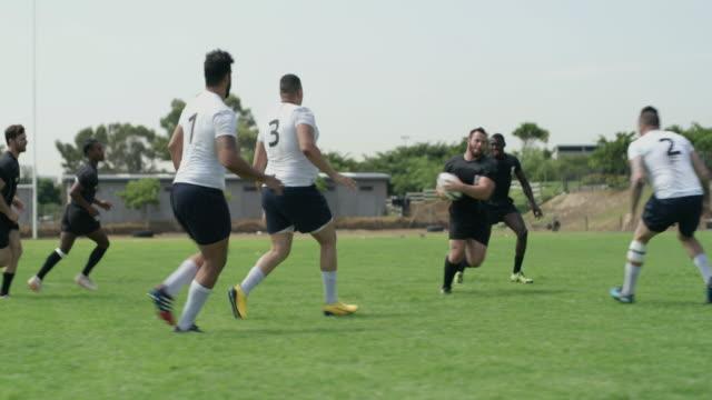 勝者になるための取り組みと守備 - スポーツ ラグビー点の映像素材/bロール