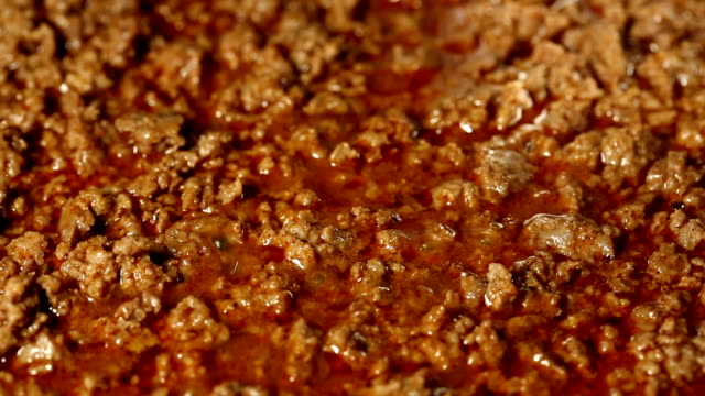 taco seasoned ground beef - cooking pan stock videos & royalty-free footage