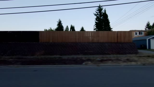 tacoma suburb xi synced series left view driving process plate - pierce county washington state stock videos & royalty-free footage