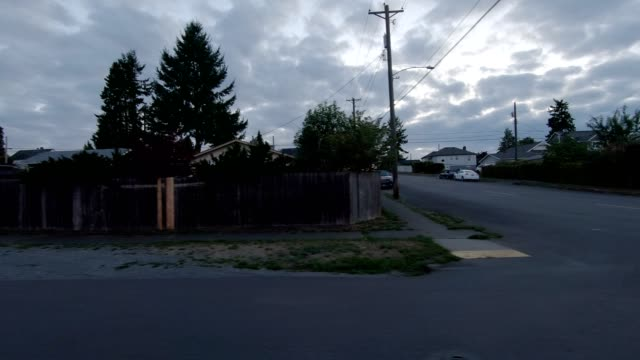 tacoma suburb xii synced series left view driving process plate - seattle stock videos & royalty-free footage