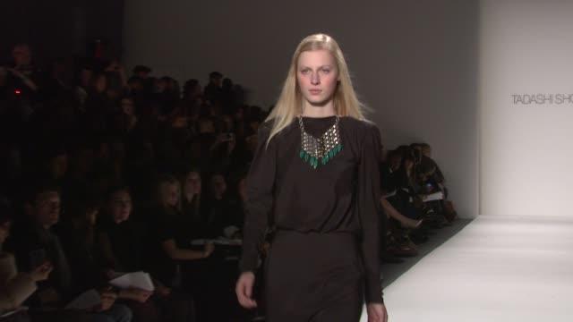 Tadashi Shoji Fashion Show Mercedes Benz Fashion Week Fall 2011 New York NY United States 02/10/11