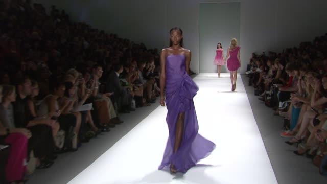 tadashi shoji spring 2012 mercedesbenz fashion week new york ny united states - montaggio di evento video stock e b–roll