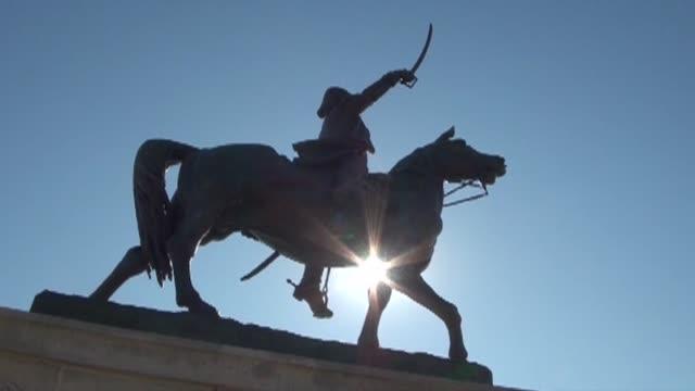 vidéos et rushes de tadeusz kosciuszko monument in chicago - mammifère ongulé