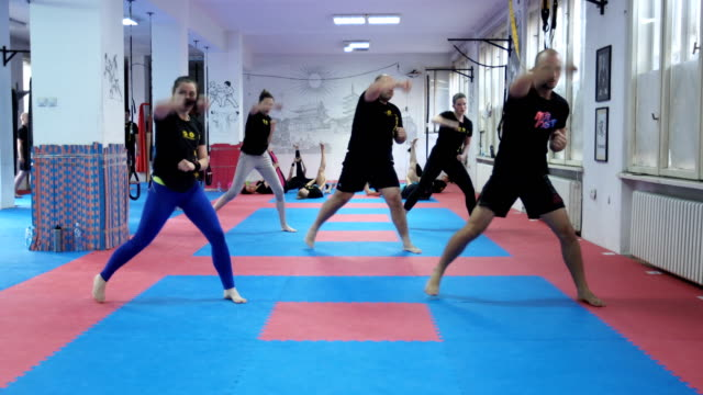 taebo training - self defence stock videos & royalty-free footage