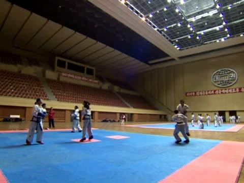 taekwondo class. - taekwondo stock videos & royalty-free footage