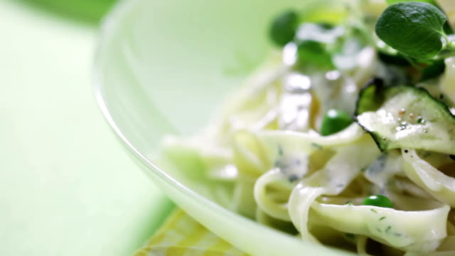 tagliatelle with zucchini sauce - courgette stock videos and b-roll footage