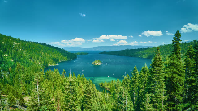Tahoe lake - conceptual aerial view