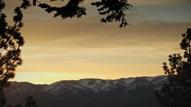 tahoe valley sunset - evergreen stock videos & royalty-free footage