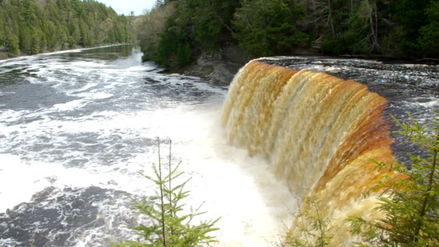 tahquamenon falls - michigan stock videos & royalty-free footage