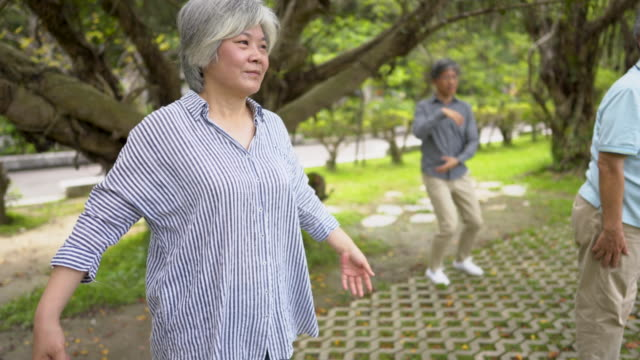 tai chi for healthy senior days - mindfulness stock videos & royalty-free footage