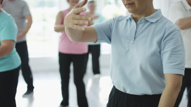 tai chi - leisure activity stock videos & royalty-free footage