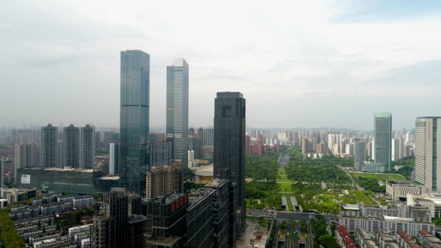 taihu avenue building in wuxi city - wuxi stock videos and b-roll footage