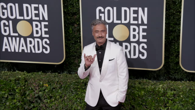 taika waititi at the 77th annual golden globe awards at the beverly hilton hotel on january 05 2020 in beverly hills california - the beverly hilton hotel stock-videos und b-roll-filmmaterial
