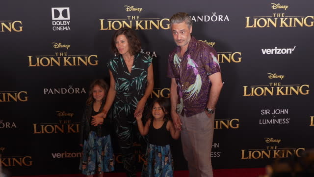 stockvideo's en b-roll-footage met taika waititi at the world premiere of disney's the lion king at dolby theatre on july 09 2019 in hollywood california - première