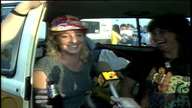 tailgate party while in the parking lot before a genesis concert at veterans stadium in philadelphia, pa. - phil collins stock videos & royalty-free footage