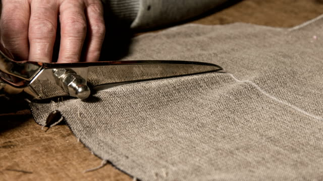 tailor at work - scissors stock videos & royalty-free footage