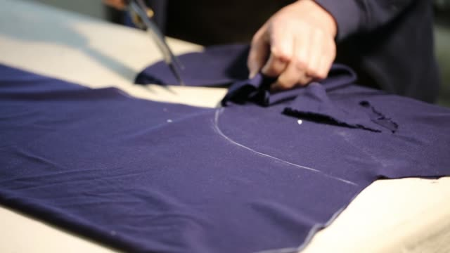 tailor work. tailoring. - atelier fashion stock videos & royalty-free footage