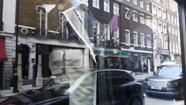 tailors shops in london savile row (2 clips) - savile row stock videos and b-roll footage