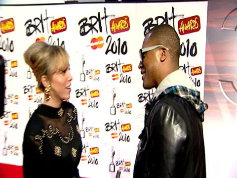 Taio Cruz at the The Brit Awards 2010 at London England