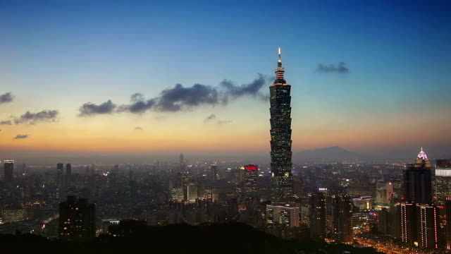 taipei at night - taipei 101 stock videos & royalty-free footage