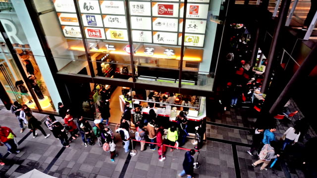 Taipei, China-Dec 1, 2015: Customers join in the queue for buying drinks, Taiwan,