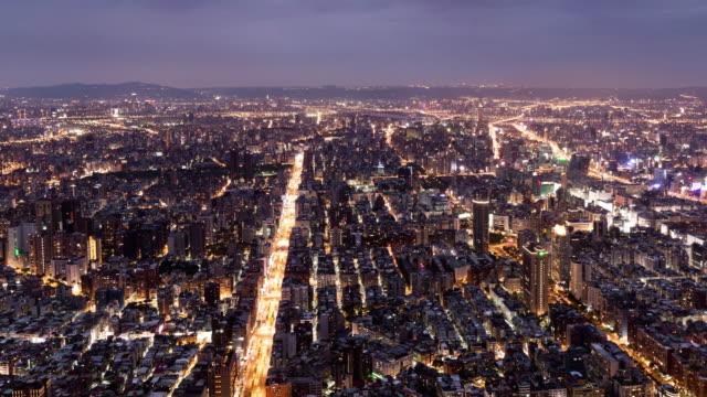 T/L Taipei city at  night