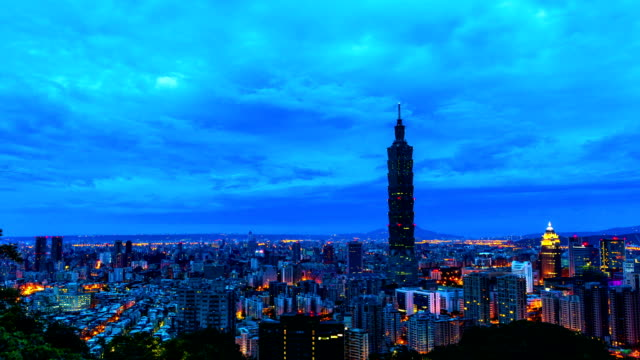 taipei city of sunrise timelapse - taipei 101 stock videos and b-roll footage